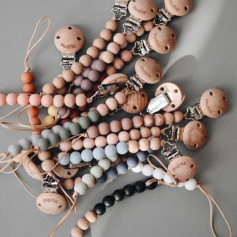 Cleo Dummy Pacifier Clip (Blush)