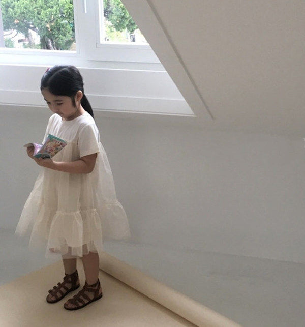 cream ivory t shirt tutu dress for girls and toddlers wedding outfit
