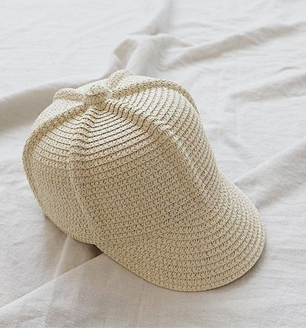 Unisex Straw Summer Riding Hat (Cream)