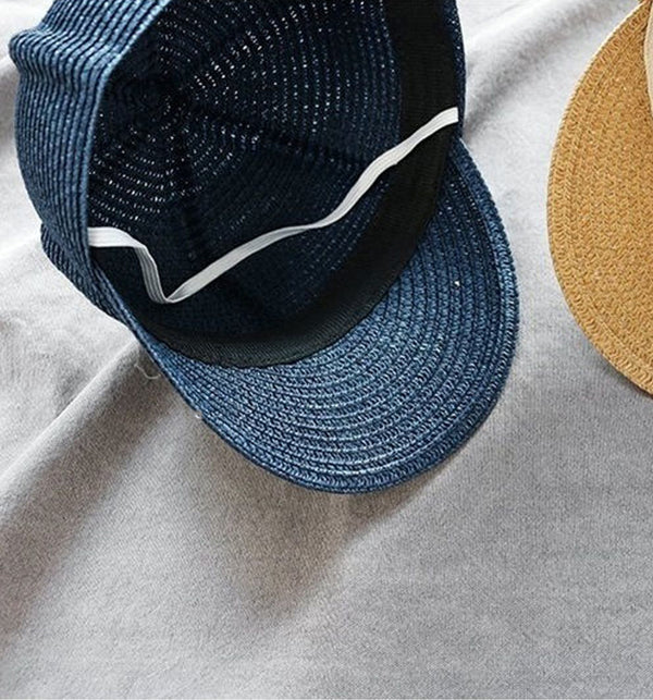 Unisex Straw Summer Riding Hat (Off White)