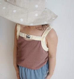 Hey You Unisex Summer Vest (Brown)
