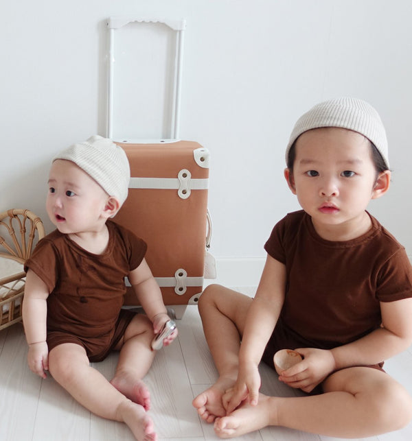 Rider Cap Sleeve T-Shirt and Shorts Set (Chocolate)