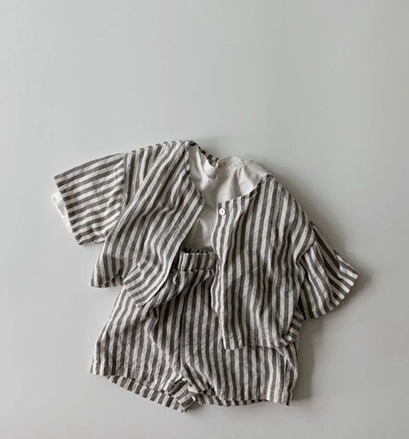 Rocco Stripe Cotton Shorts