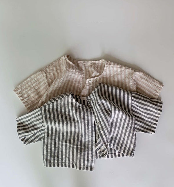 stripe jacket for kids cardigan jacket button up for summer