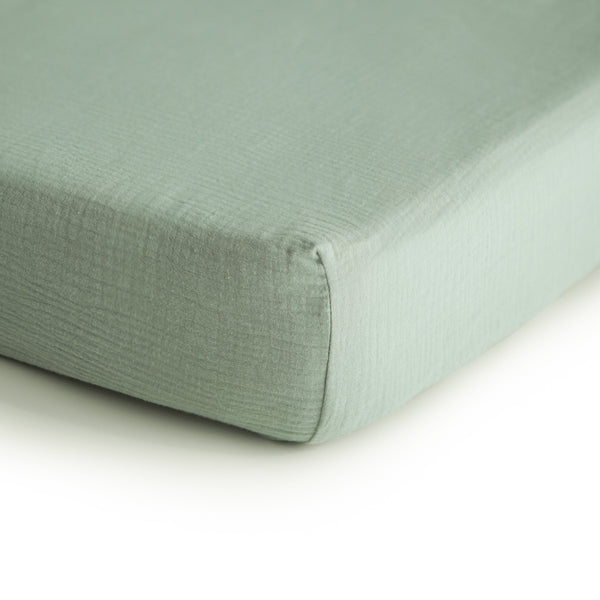 Extra Soft Organic Cotton Crib Sheet (Roman Green)