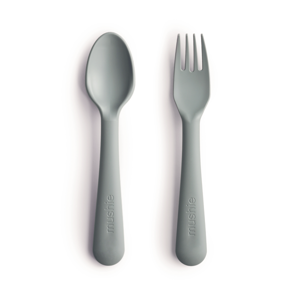 Mushie Fork + Spoon (Sage)