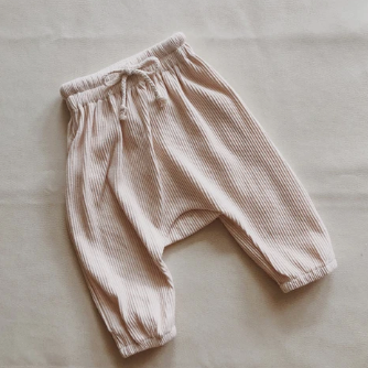Iggy Ribbed Track Pants Cream