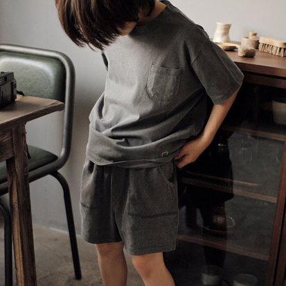 Bien Pocket Tee (Charcoal)