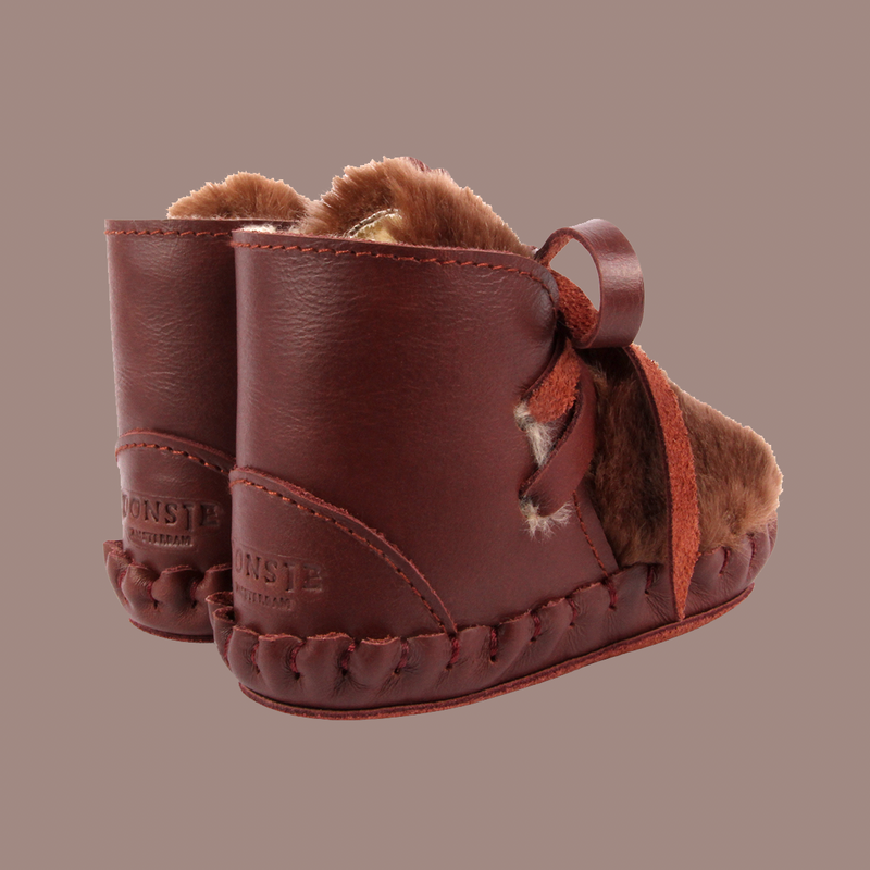 Kelinci Lining Burgundy Leather Booties