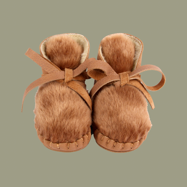 Kelinci Lining Nutmeg Leather Booties