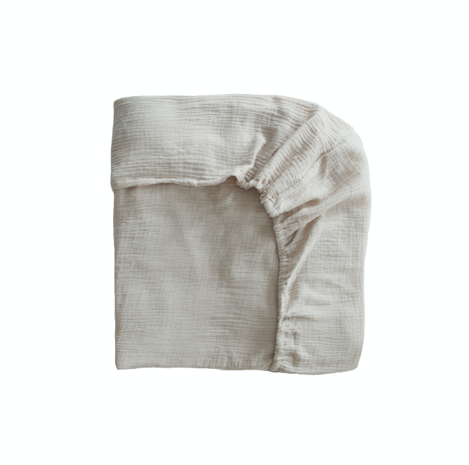 Extra Soft Organic Cotton Crib Sheet (Fog)