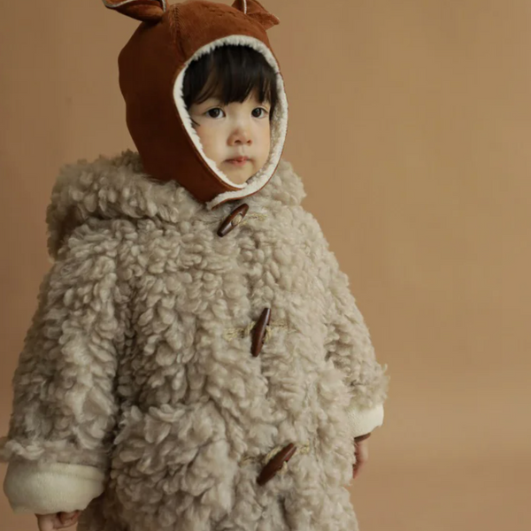 Izu Teddy Toggle Warm Coat (Beige)
