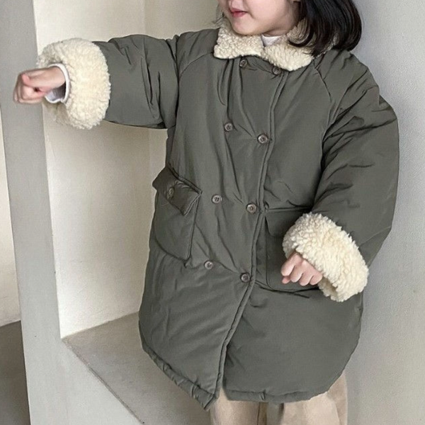 Cloud Long Padded Coat (Khaki)