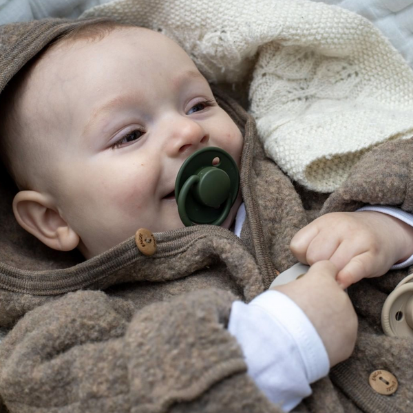 BIBS BPA Free Natural Rubber Pacifier Dummy (Hunter Green)