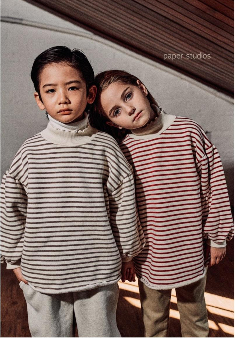 Juka Stripe Sweatshirt (Red)