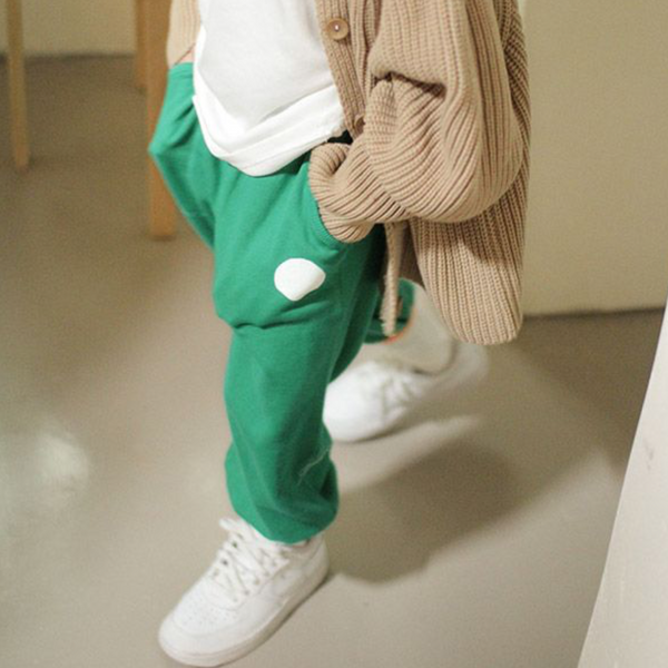 Momo Spot Tracksuit Bottoms (Green)