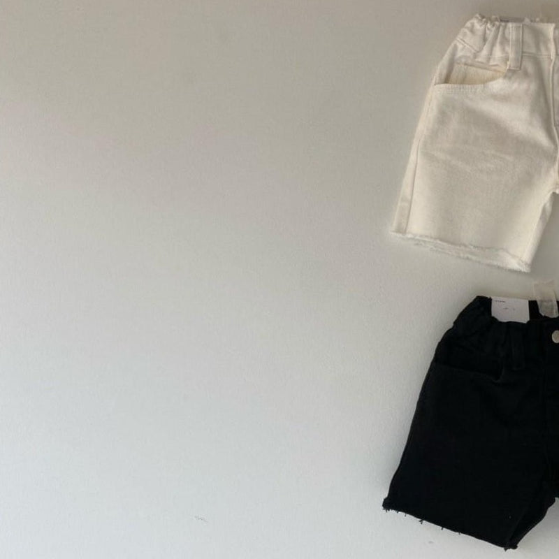 Suki Unisex Denim Shorts (Black)