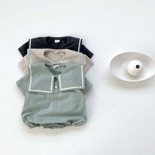 Garda Sailor Collar Romper (Sage)