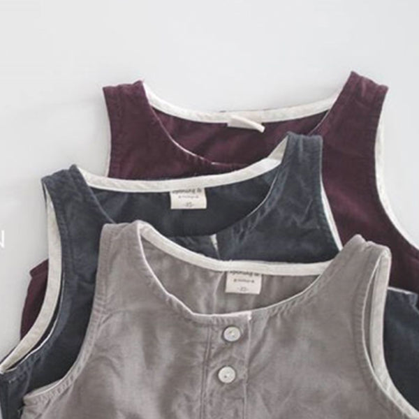 Anders Cotton Button Vest