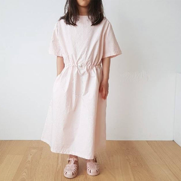 Nuovo Minimalist Simple Toggle Dress (Pink)