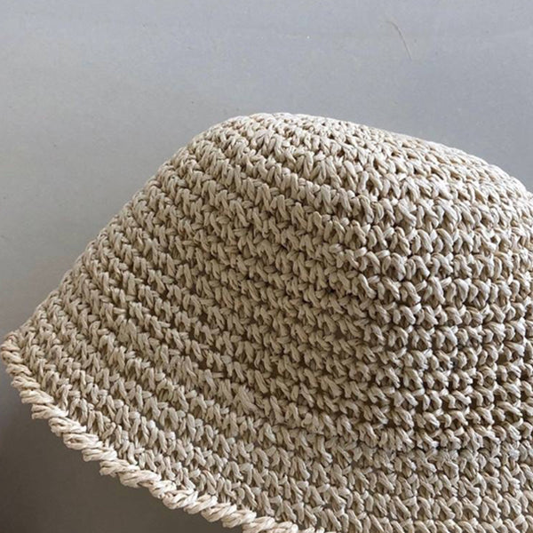 Cosmo Straw Bucket Hat (Natural)