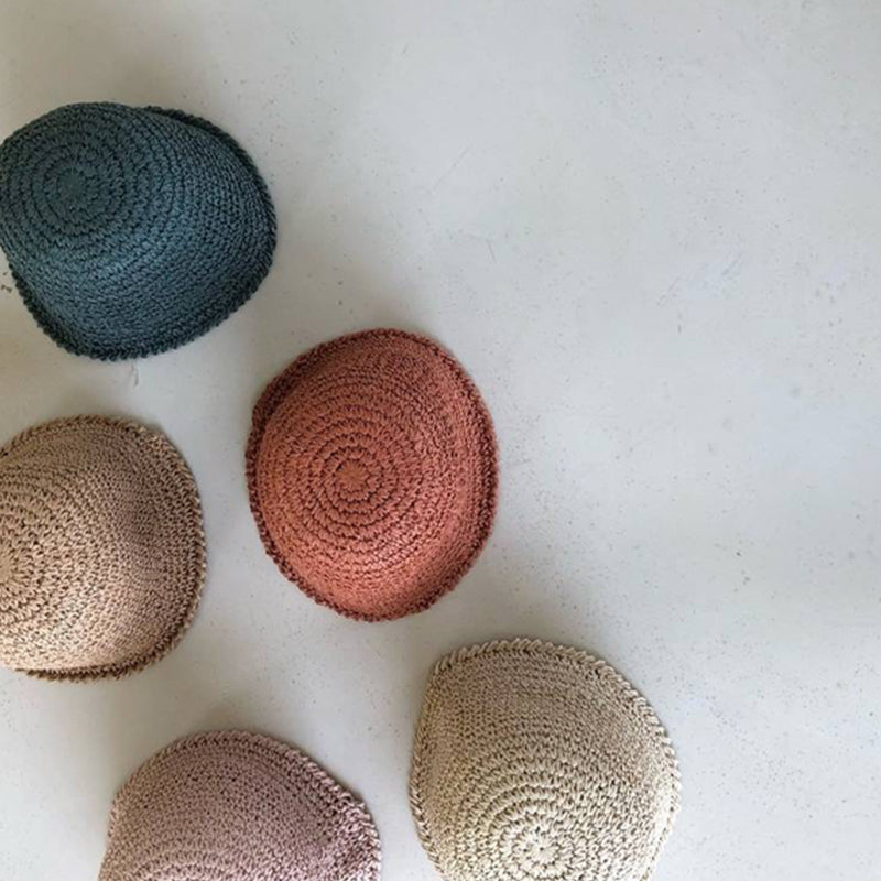 Cosmo Straw Bucket Hat (Rust)