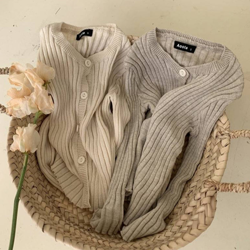 Arlo Rib Button Up Beige