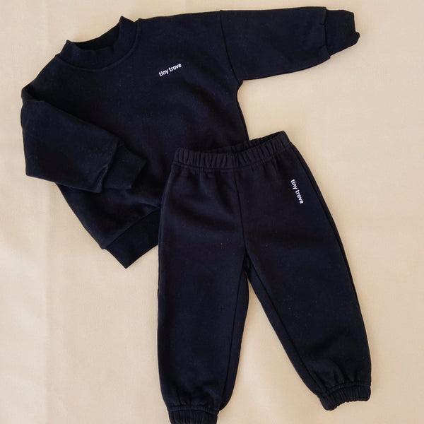 Woodie Logo Tracksuit Set (Black)