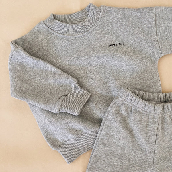 Woodie Logo Tracksuit Set (Grey Marl)
