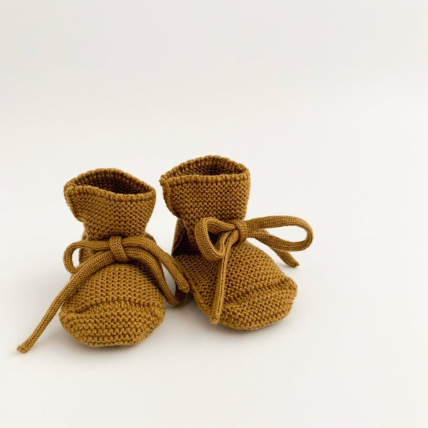 Merino Wool Booties (Mustard)