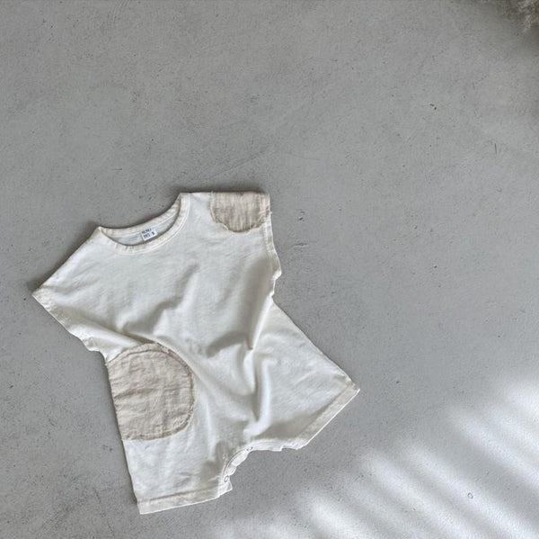 Casa Patch Circle Baby Romper (Cream)