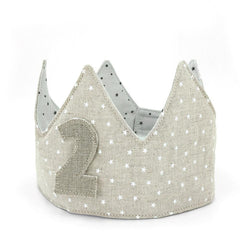Reversible Organic Cotton Birth Year Crown (Stars)