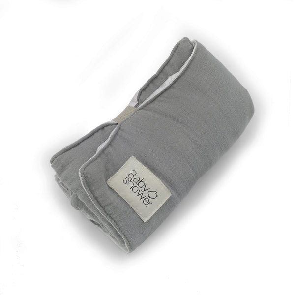 Organic Cotton Easy-fold Travel Changing Mat (Grey)