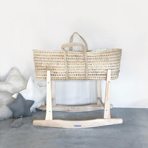 Rocker Wooden Moses Basket Stand