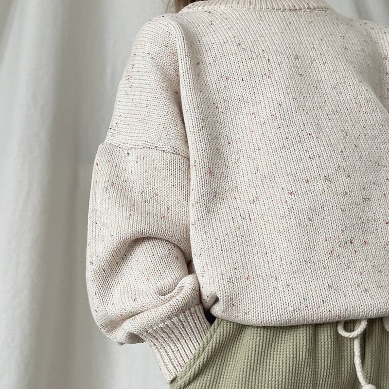 Clay Fine Knit Boxy Jumper
