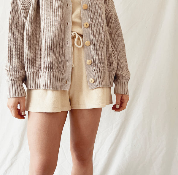 MAMA Marl Wheat Chunky Knit Cardigan