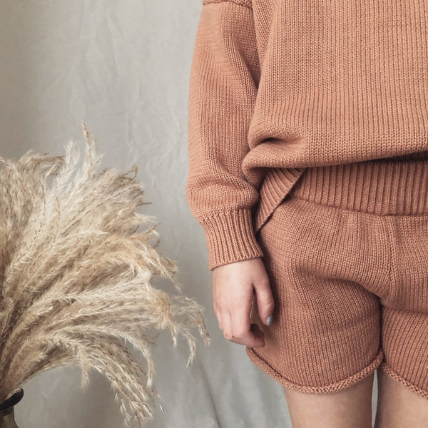 Clay Fine Knit Shorts