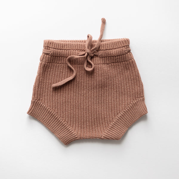 Lori Chunky Knit Shorties (Claypot)