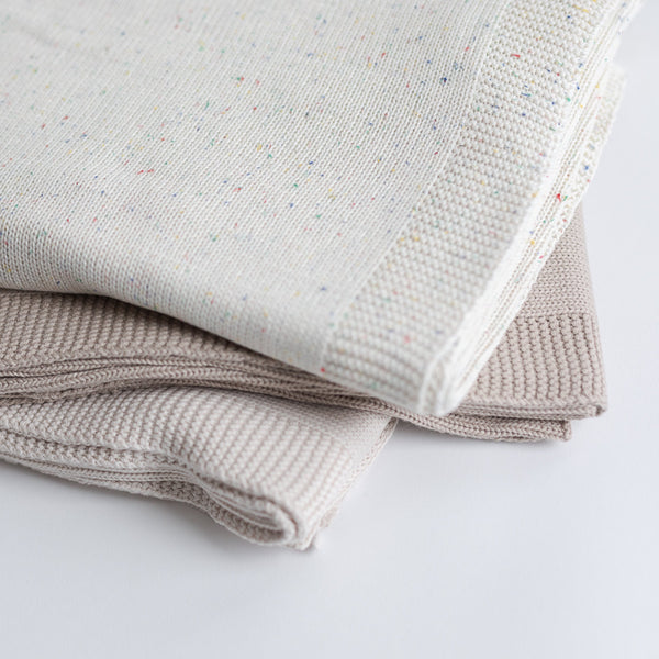 Kindly Cotton Knitted Blanket (Hazelnut)