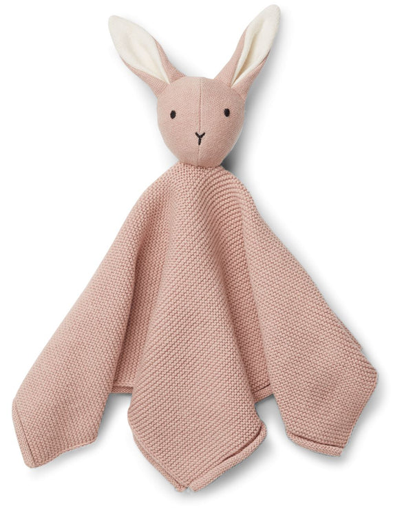 Milo Knitted Rabbit Cuddle Cloth (Rose)