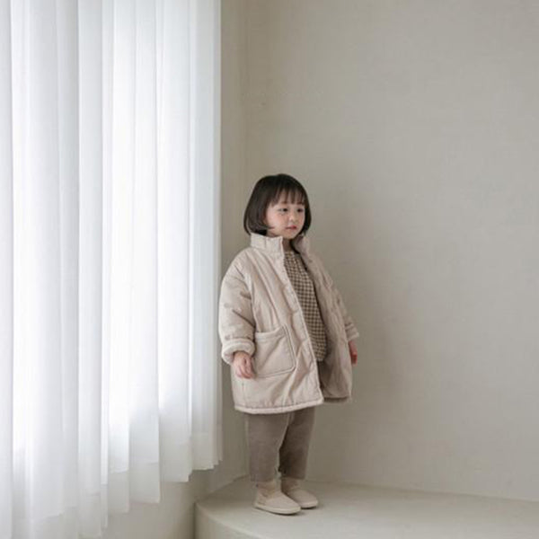 Seoul Padded Long Line Coat (Oat)`