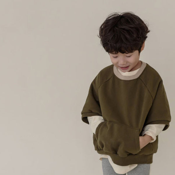 Noa Oversize Sweathirt Top (Khaki)