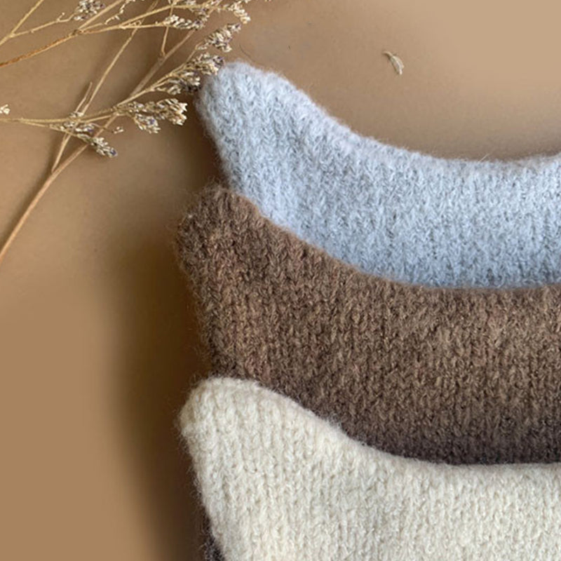 Gato Handmade Knit Hat (Grey Blue)