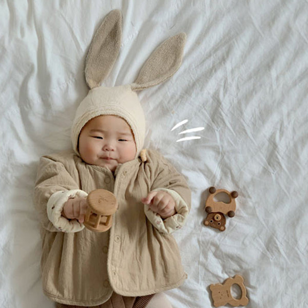 Lapin Handmade Rabbit Knit Hat (Cream)