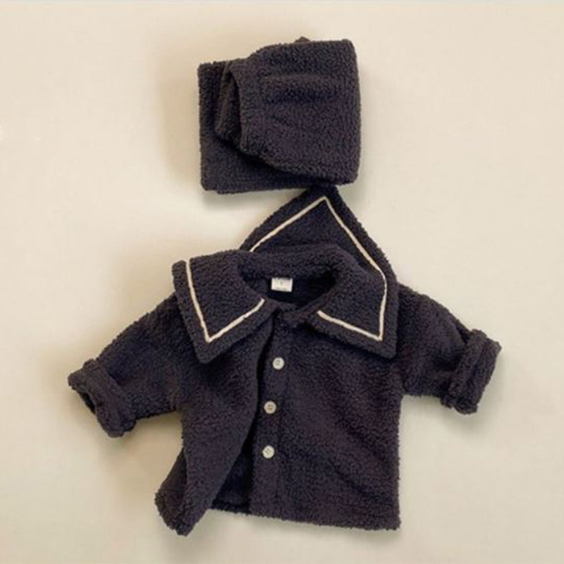 Garda Teddy Top and Bottom Set (Charcoal)