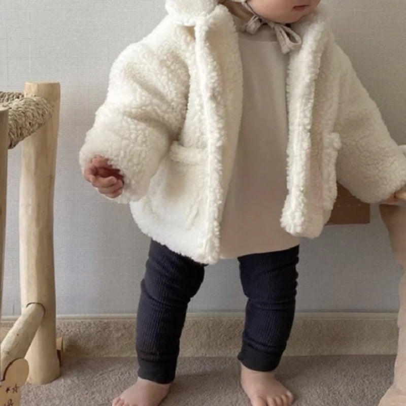 Bori Teddy Button Up Coat (Ivory)