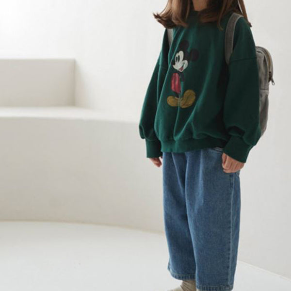 Oversize Mickey Sweatshirt (Green)
