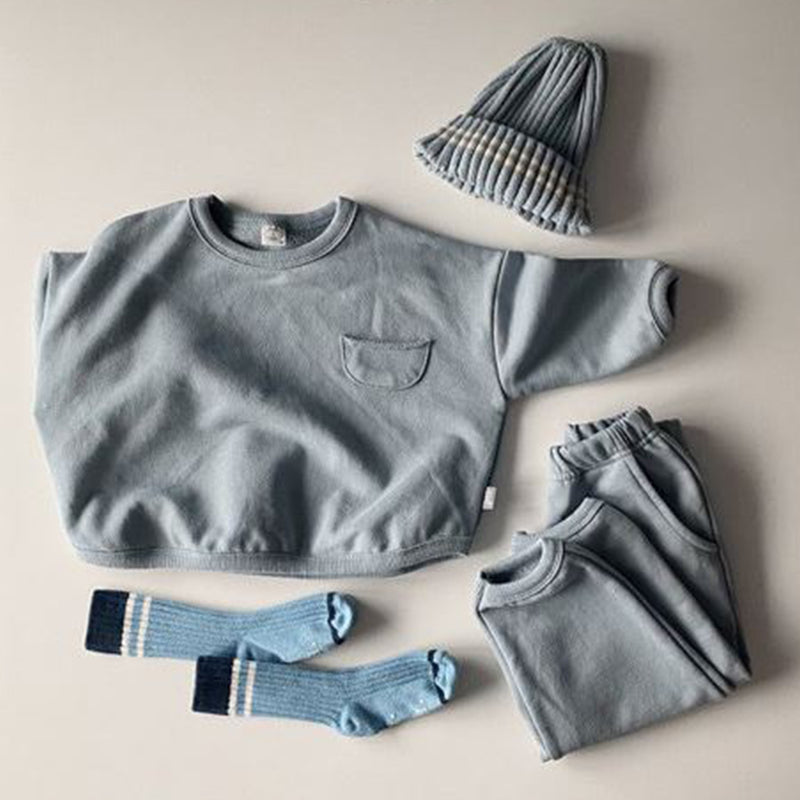 Weekly Basics Top and Bottom 2 Piece Set (Sky)