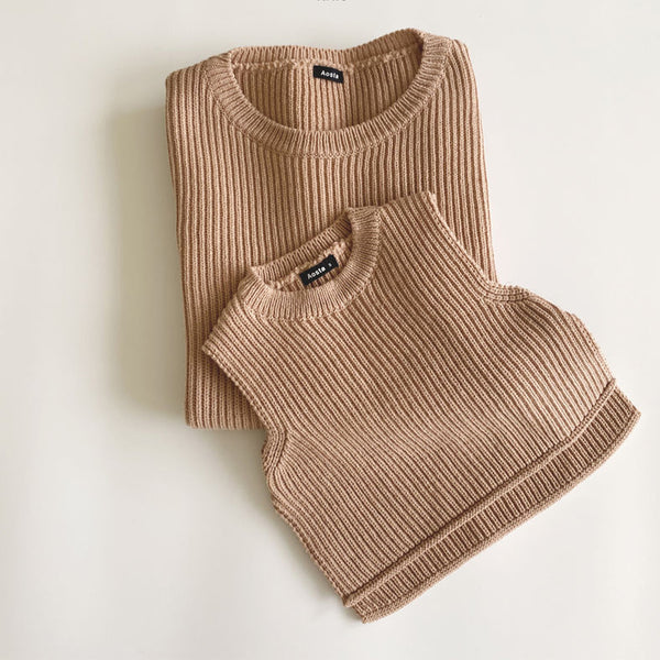 MAMA Nino Knit Vest (Blush)
