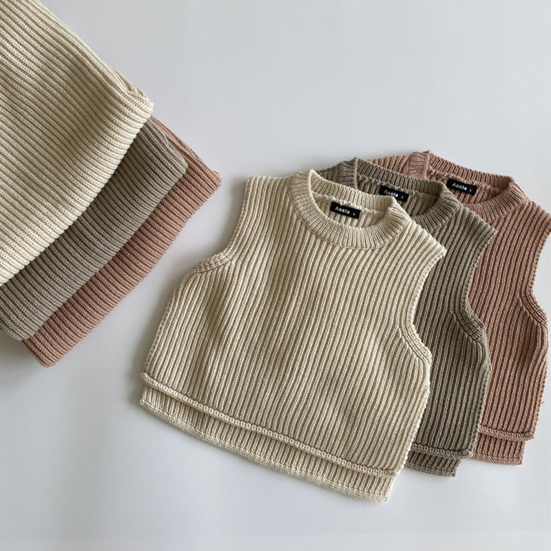 Nino Knit Vest (Blush)